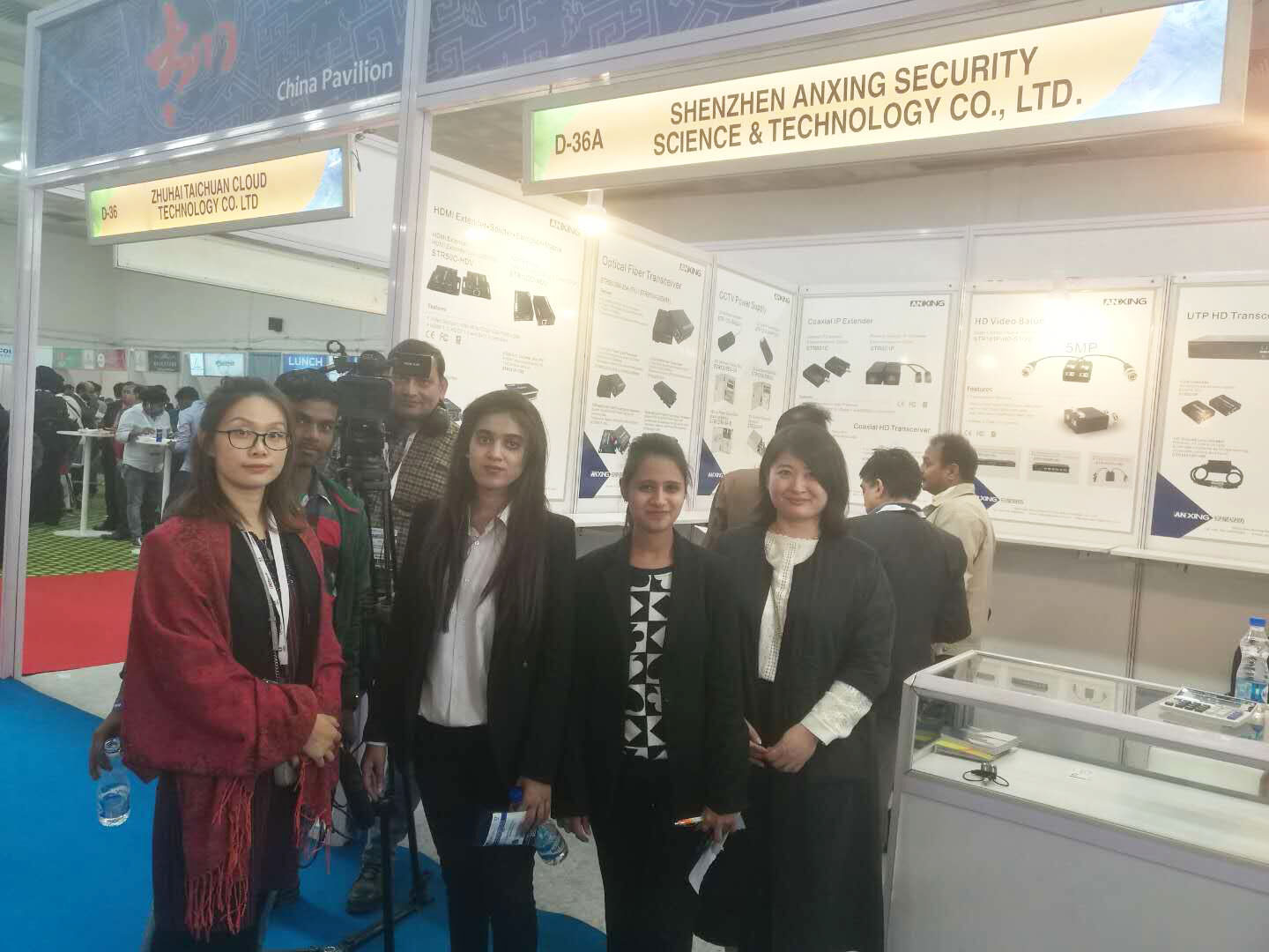 Anxing Attend 2017 IFSEC India at New Delhi